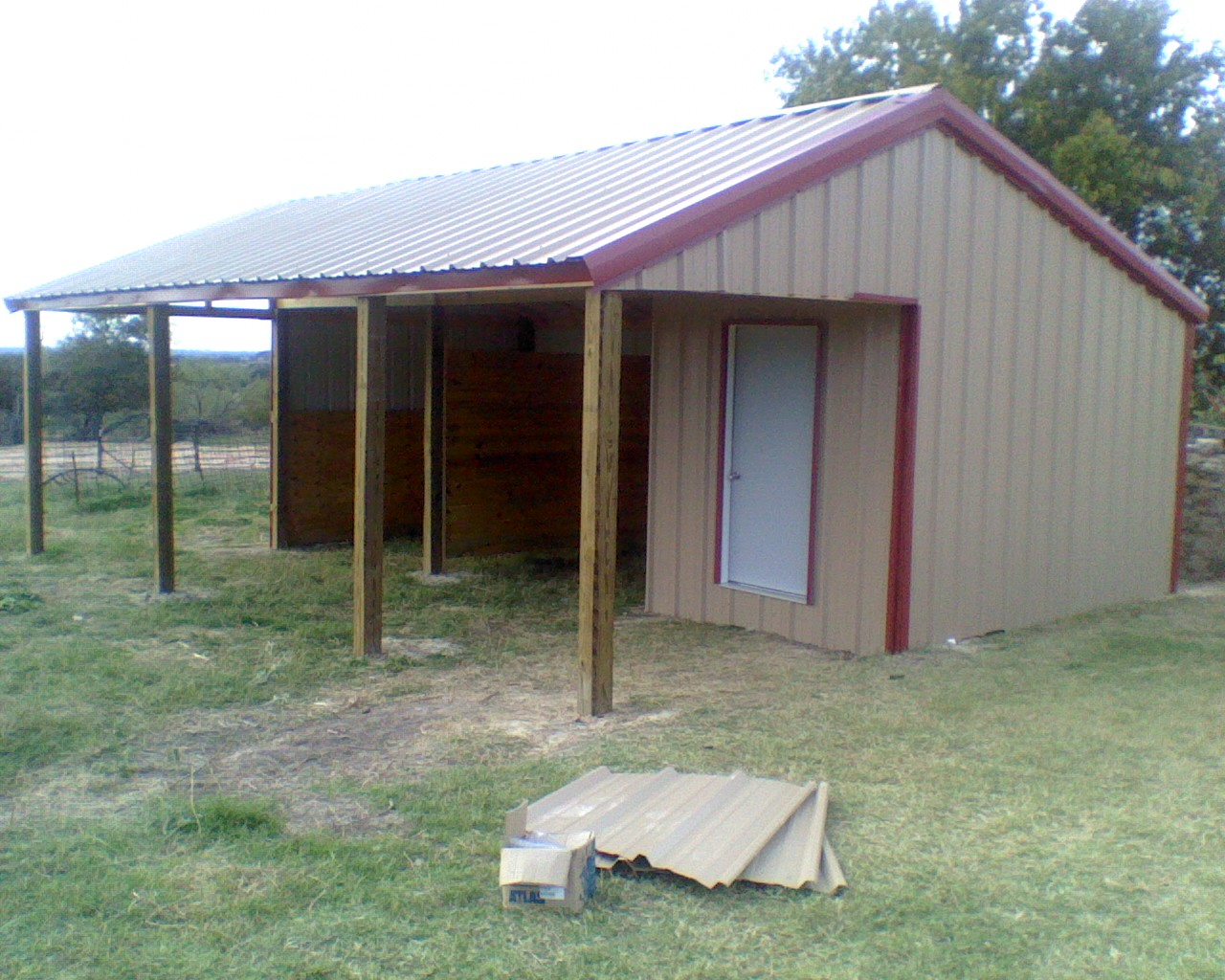 How to build a metal loafing shed shed plan easy for 2 stall horse barn kits